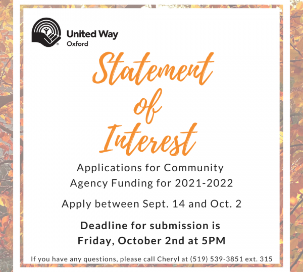 Call for Statement of Interest